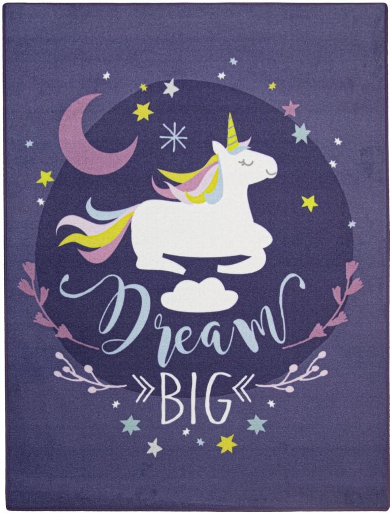 Drømme Enhjørning / Dream Unicorn De Luxe gulvtæppe til børn 95×125