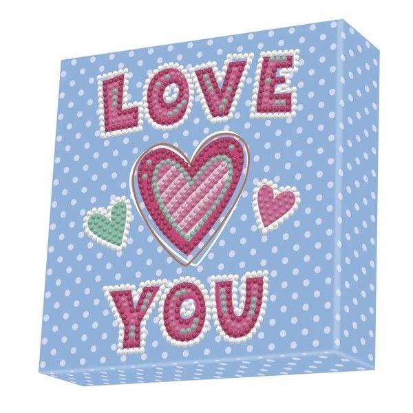 Diamond Dotz Box 15×15 cm – Love You
