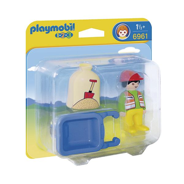 Playmobil 123 Bygningsarbejder med trillebør – PL6961 – PLAYMOBIL 1.2.3